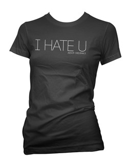 I Hate U - Tee Shirt Aesop Originals Clothing (Black)