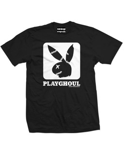 Playghoul Bunny Cube - Mens Tee Shirt Aesop Originals Clothing (Black)