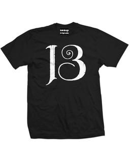 13 - Mens Tee Shirt Aesop Originals Clothing (Black)