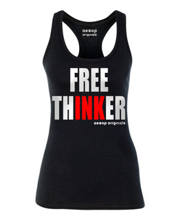 Free ThINKer - Tank Top Aesop Originals Clothing (Black)
