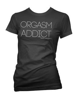Orgasm Addict - Tee Shirt Aesop Originals Clothing (Black)
