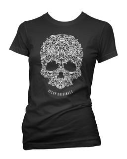 A Skull Named Sugar - Tee Shirt Aesop Originals Clothing (Black)