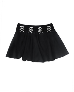 The Misfit Captain - Skater Skirt Aesop Originals Clothing (Black)