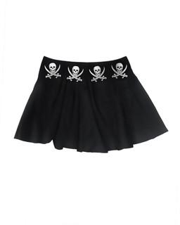 The Jolly Roger - Skater Skirt Aesop Originals Clothing (Black)