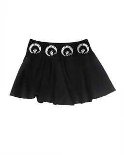 Crimson Scissorhands - Skater Skirt Aesop Originals Clothing (Black)