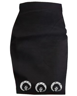 Crimson Scissorhands - High Waisted Pencil Skirt Aesop Originals Clothing (Black)