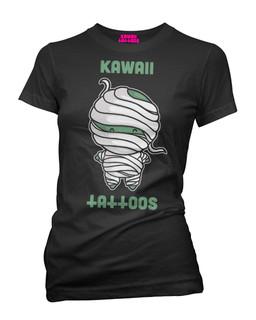 The Mummy - Parody Tee Shirt Kawaii Tattoos Clothing (Black)