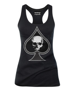 Thee Ace Of Spades - Tank Top Aesop Originals Clothing (Black)