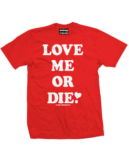 Love Me Or Die - Mens Tee Shirt Aesop Originals Clothing (Red)