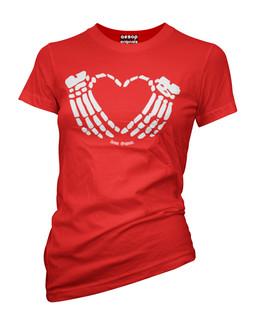 Crimson Heart - Tee Shirt Aesop Originals Clothing (Red)