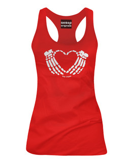 Crimson Heart - Tank Top Aesop Originals Clothing (Red)
