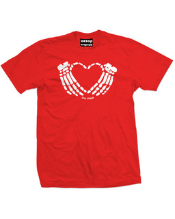 Crimson Heart - Mens Tee Shirt Aesop Originals Clothing (Red)