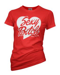 Sexy Bitch - Tee Shirt Aesop Originals Clothing (Red)