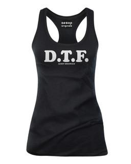 D.T.F. - Tank Top Aesop Originals Clothing (Black)