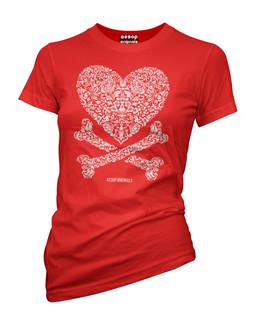 Cross My Heart - Tee Shirt Aesop Originals Clothing (Red)