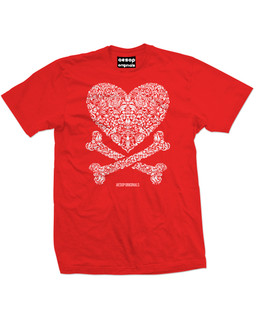 Cross My Heart - Mens Tee Shirt Aesop Originals Clothing (Red)
