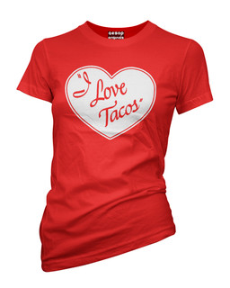 I Love Tacos - Tee Shirt Aesop Originals Clothing (Red)