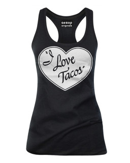 I Love Tacos - Tank Top Aesop Originals Clothing (Black)