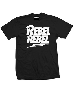 Rebel Rebel - Mens Tee Shirt Aesop Originals Clothing (Black)