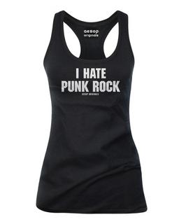 I Hate Punk Rock - Tank Top Aesop Originals Clothing (Black)