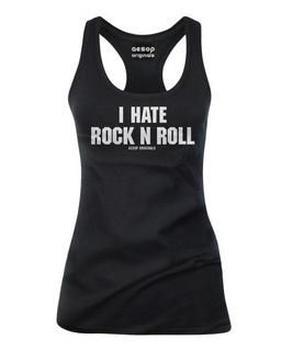 I Hate Rock n Roll - Tank Top Aesop Originals Clothing (Black)