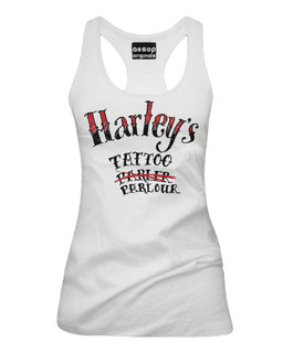 Harley's Tattoo Parlour - Fan Art - Tank Top Aesop Originals Clothing (White)