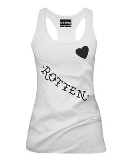 Harley Quinn's Rotten - Face Tattoos - Fan Art - Tank Top Aesop Originals Clothing (White)