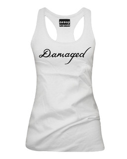 The Jokers Damaged Tattoo - Fan Art - Tank Top Aesop Originals Clothing (White)