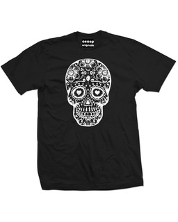 Day Of The Dead Sugar Skull - Mens Tee Shirt Aesop Originals Clothing (Black)