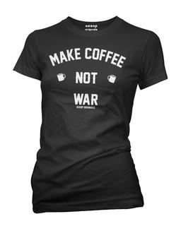 Make Coffee Not War - Tee Shirt Aesop Originals Clothing (Black)