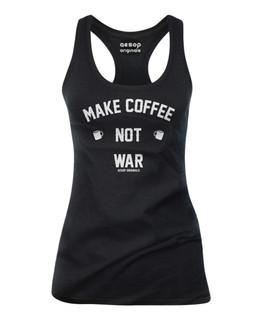 Make Coffee Not War - Tank Top Aesop Originals Clothing (Black)