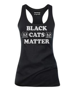 Black Cats Matter - Tank Top Aesop Originals Clothing (Black)