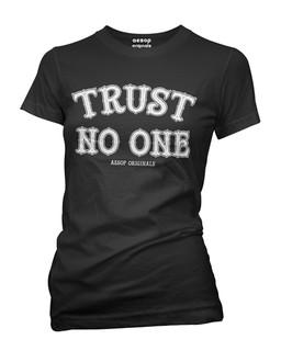 Trust No One - Tee Shirt Aesop Originals Clothing (Black)