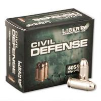 LIBERTY AMMUNITION CIVIL DEFENSE .40 60GR - 20 ROUNDS