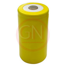 D Rechargeable Battery Ni-Cd 500mAh , Flat Top