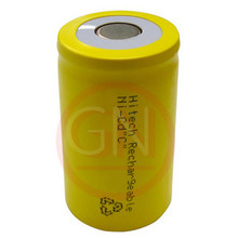 C Rechargeable Battery Ni-Cd 3000mAh, Flat Top