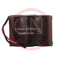 GN-3-1/2AAUN 3.6V Ni-Cd Phone Battery with Universal Connector