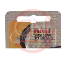 1 Maxell SR516SW, 317 Coin Cell Battery