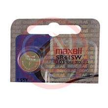 1 Maxell SR44SW, 303 Silver Oxide Watch Battery