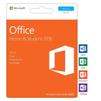 Microsoft Office 2016 Home and Student 1 PC Card