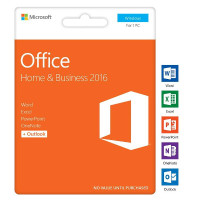 Microsoft Office 2016 Home and Business 1 PC Card