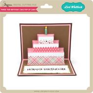 Three Tier Birthday Cake Pop Up Card
