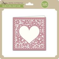 Blank Floral Heart Card