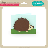 Bobble Head Card Hedgehog