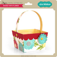 Basket with Flower