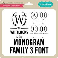 Monogram Family 3 Font