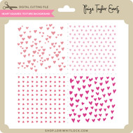 Heart Squares Texture Background