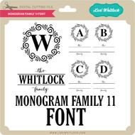 Monogram Family 11 Font