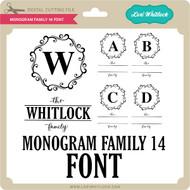 Monogram Family 14 Font