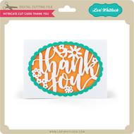 Intricate Cut Card Thank You